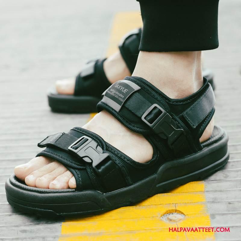 Miesten Sandaalit Halpa Rento Paksu Pohja Kesä Tuonti Kengät Musta