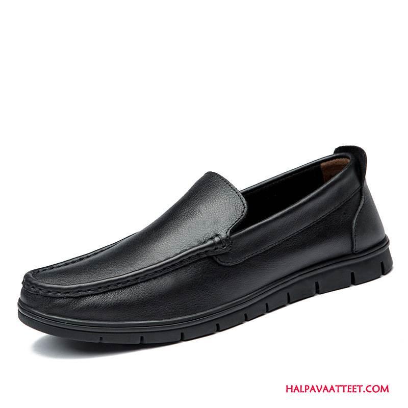 Miesten Mokkasiinit Halvat Rento Nauhaton Kengät Liiketoiminta Miehille Musta