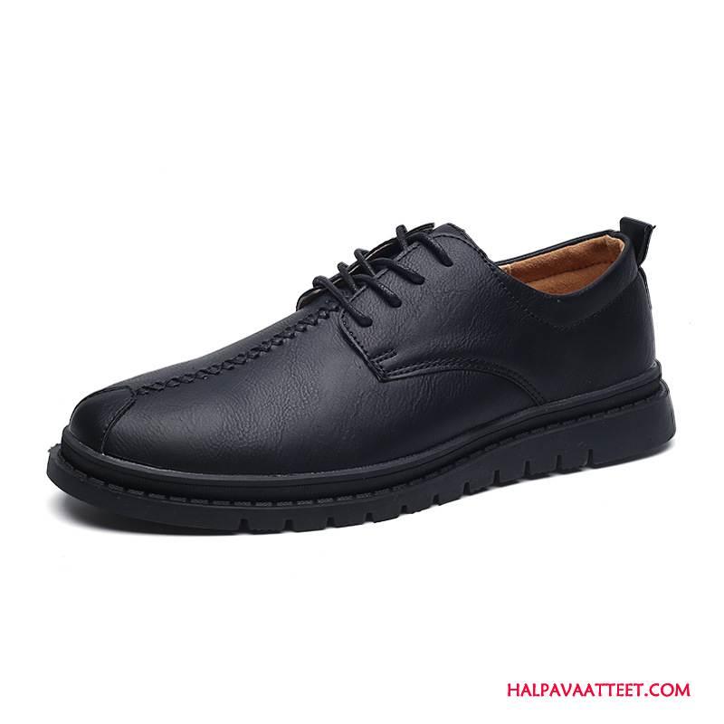 Miesten Mokkasiinit Halvat Suuntaus Vintage Kengät Kevät Brittiläinen Musta