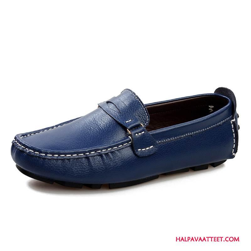 Miesten Mokkasiinit Myynti Opiskelija Miehille Siteellä Kesä Kengät Valkoinen Sininen