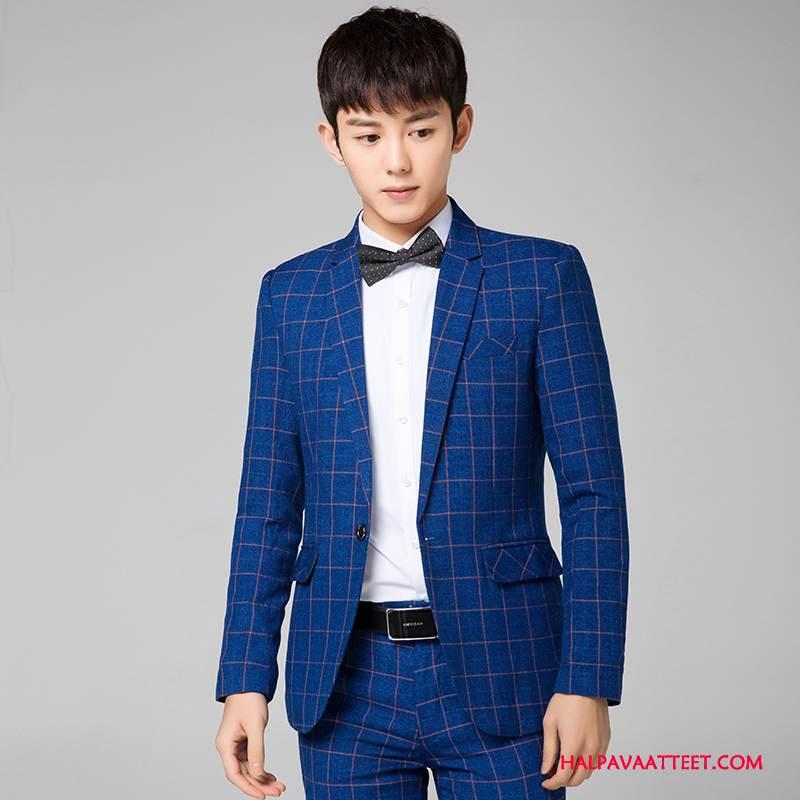 miesten sininen puku