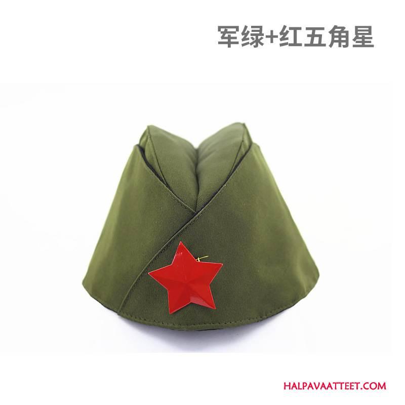 Naisten Hattu Halpa Hostess Naisille Armeijan Vihreä Naamiointi Punainen