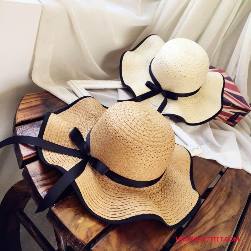 Naisten Hattu Halvat Kesä Ranta Aurinkovoiteet Shade Matkustaminen Khaki Violetti