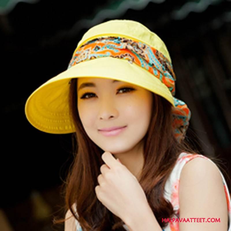 Naisten Hattu Halvat Ulkoilu Aurinkovoiteet Shade Aurinkohattu Ranta Keltainen