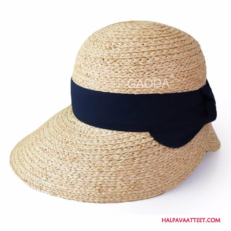 Naisten Hattu Netistä Olkihattu Aurinkovoiteet Kevät Naisille Shade Khaki Violetti