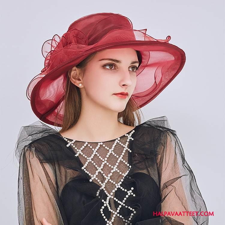 Naisten Hattu Verkossa Kukkia Naisille Kesä Valo Ranta Bourgogne Violetti