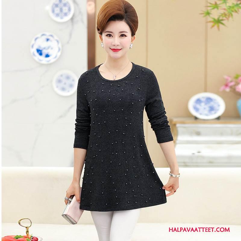 Naisten Keski-ikäiset Vaatteet Osta Naisille Pullover Casual Kevät Muoti Musta