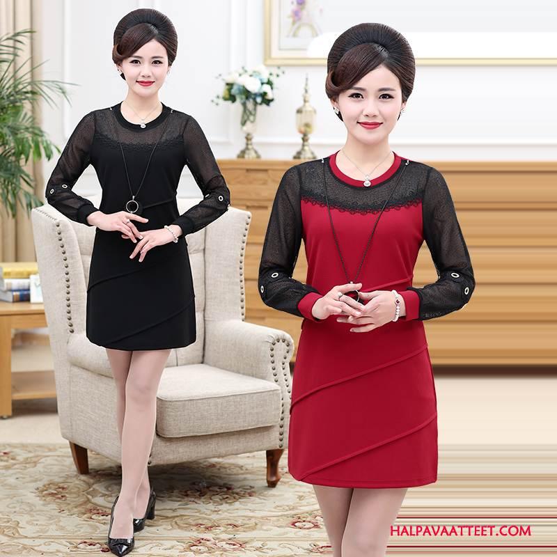 Naisten Keski-ikäiset Vaatteet Osta Yksinkertainen Löysät Tyylikäs Naisille Mukavat Puhdas Musta