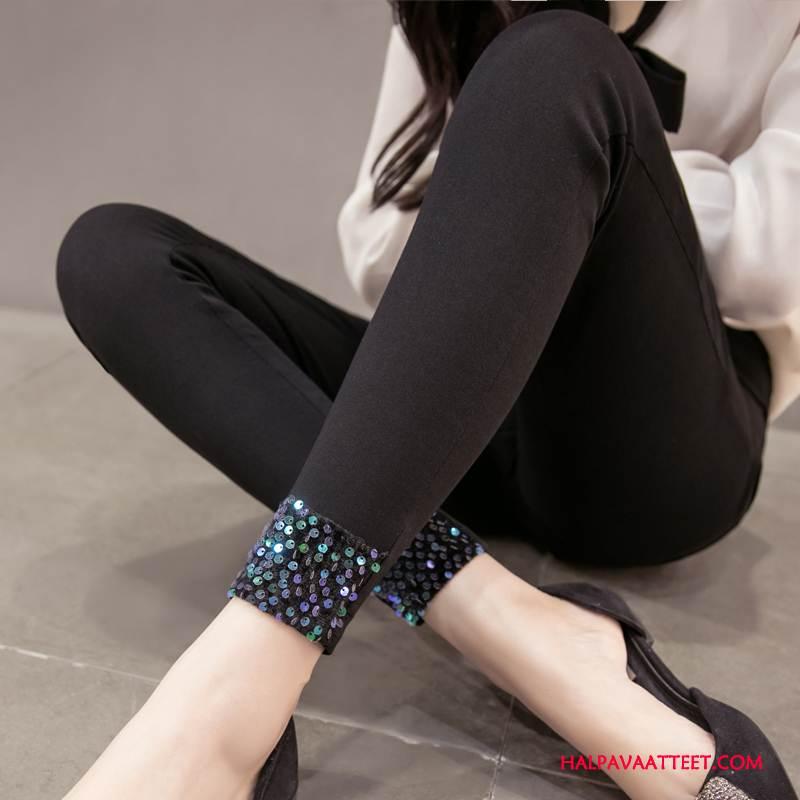 Naisten Leggingsit Halpa Tyylikäs Tasku Kynä Housut Syksy Tiukka Musta