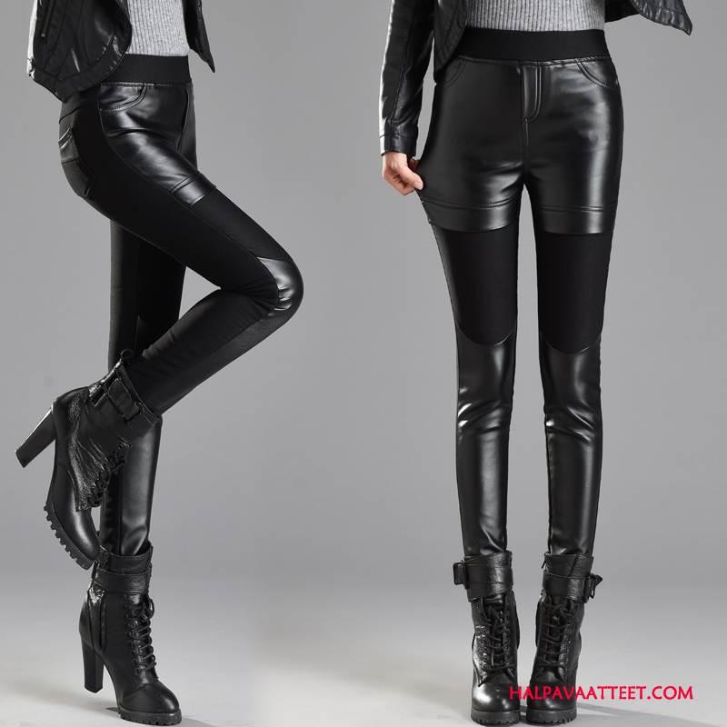 Naisten Leggingsit Halvat Tiukka Plus Cashmere Tyylikäs Casual Syksy Musta