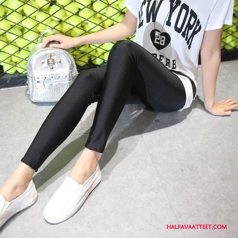 Naisten Leggingsit Verkossa Capri Housut Tyylikäs Uusi Yksinkertainen Muoti Puhdas Musta