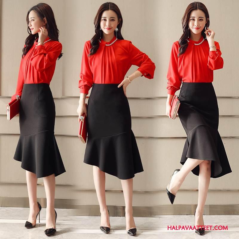Naisten Leninki Kauppa Suuntaus Vaatteet Yksinkertainen Ihana Tyylikäs Punainen