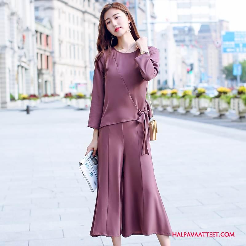 Naisten Leninki Kauppa Tyylikäs Suosittu Muoti Vaatteet Ohut Puhdas Violetti