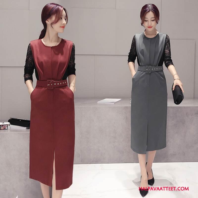 Naisten Leninki Osta Suuri Vaatteet Syksy Pitkässä Osassa Yksinkertainen Punainen