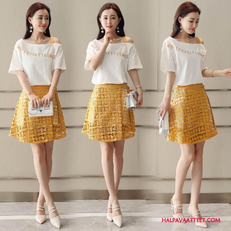 Naisten Leninki Tarjous Kesä Mukavat Tyylikäs Ohut Vaatteet Keltainen