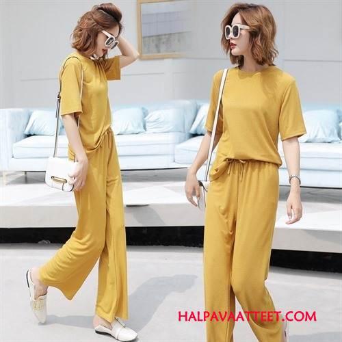 Naisten Leninki Verkossa Ohut Casual Tyylikäs Muoti Vaatteet Keltainen