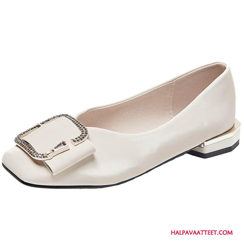 Naisten Mokkasiinit Halvat Suuntaus Naisille Paksu Tasainen Kengät Valkoinen Kultainen Punainen