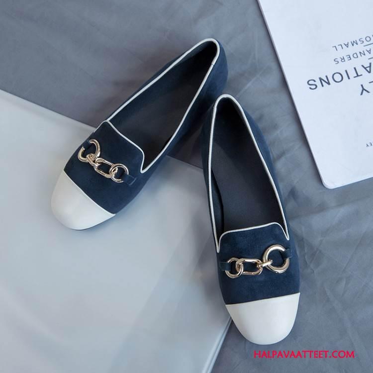 Naisten Mokkasiinit Kauppa Naisille Litteät Yksinkertainen Ketju Kengät Värisävyt Valkoinen Vaalean Kermanvärisiä Sininen
