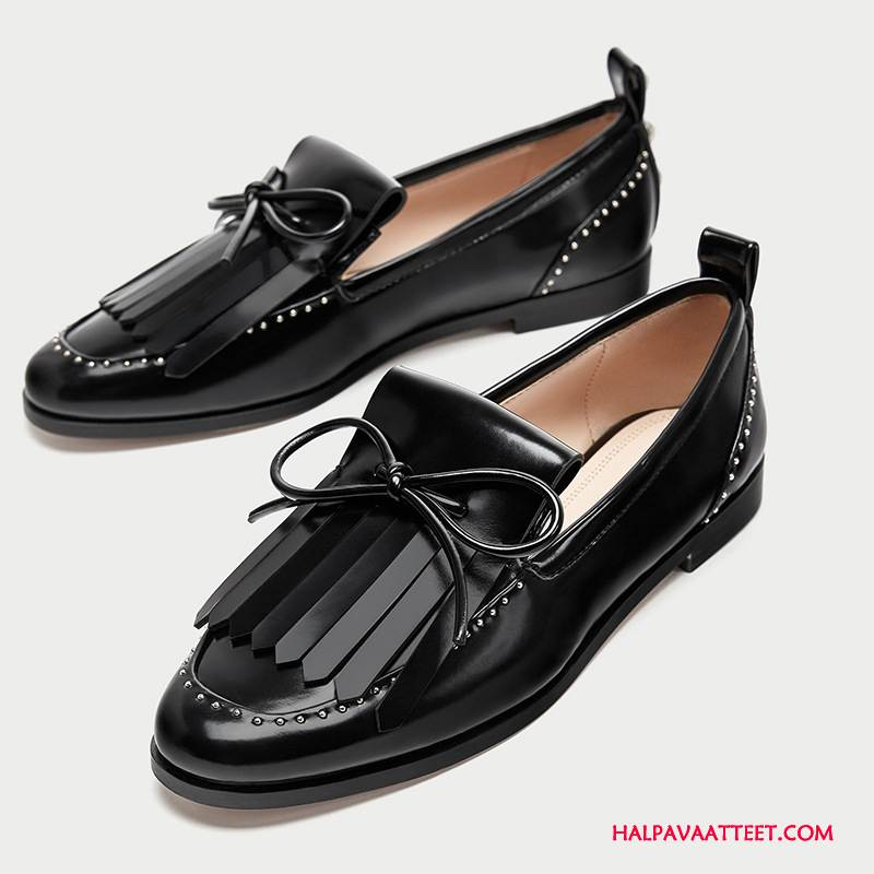 Naisten Mokkasiinit Osta Kengät Derbies Vintage Naisille Niitti Musta