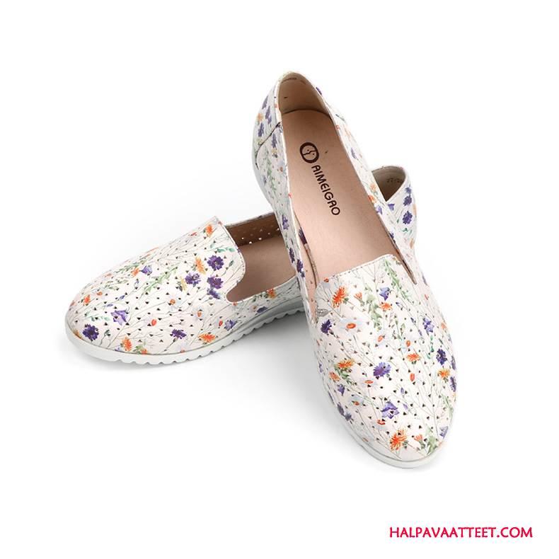 Naisten Mokkasiinit Osta Kengät Rento Tasainen Painettu Naisille Valkoinen
