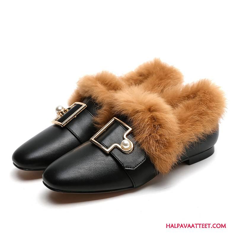 Naisten Mokkasiinit Osta Päällysvaatteet Brittiläinen Kengät Derbies Litteät Kengät Musta