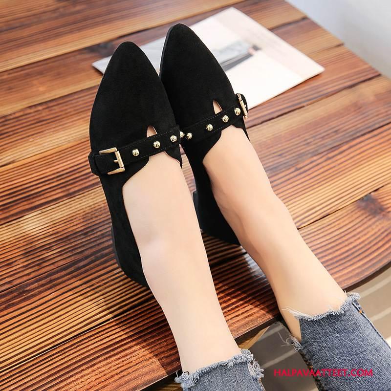 Naisten Mokkasiinit Osta Suuntaus Tasainen Naisille Litteät Kengät Derbies Musta Vaalean