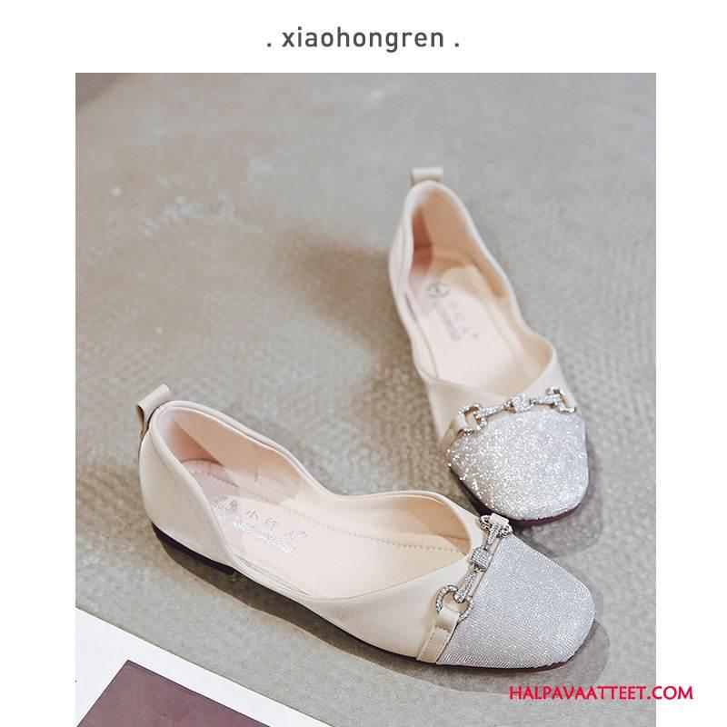 Naisten Mokkasiinit Verkossa Purjehduskengät Litteät Kengät Naisille Vintage Kesä Vaalean Punainen