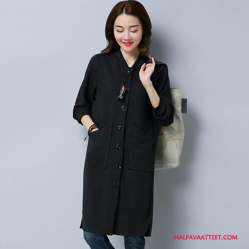 Naisten Plus Size Vaatteet Halvat Naisille Syksy Tiukka Casual Ohut Puhdas Musta