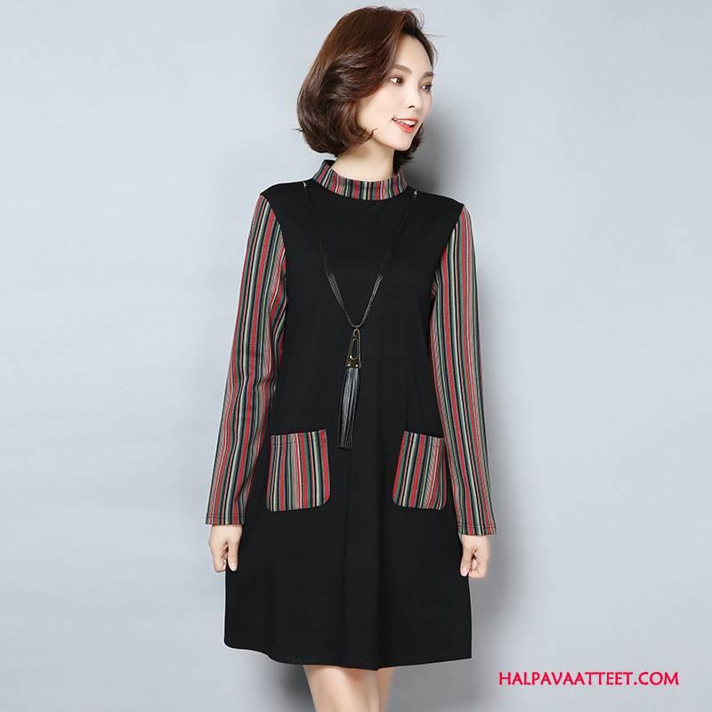 Naisten Plus Size Vaatteet Halvat Syksy Naisille Löysät Pitkät Hihat Pullover Musta
