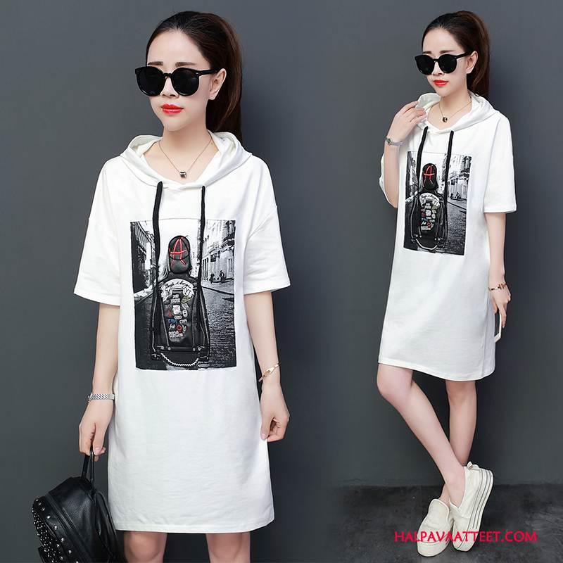 Naisten Plus Size Vaatteet Myynti Kevät Suuri Koko Pullover Löysät Tyylikäs Valkoinen
