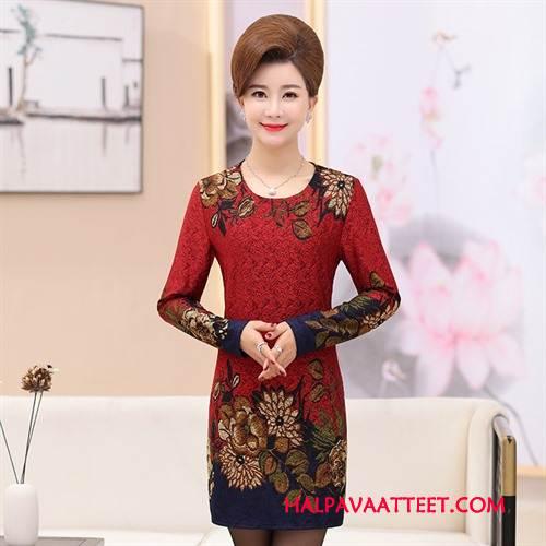 Naisten Plus Size Vaatteet Netistä Tyylikäs Naisille Ohut Makea Kevät Rose Punainen
