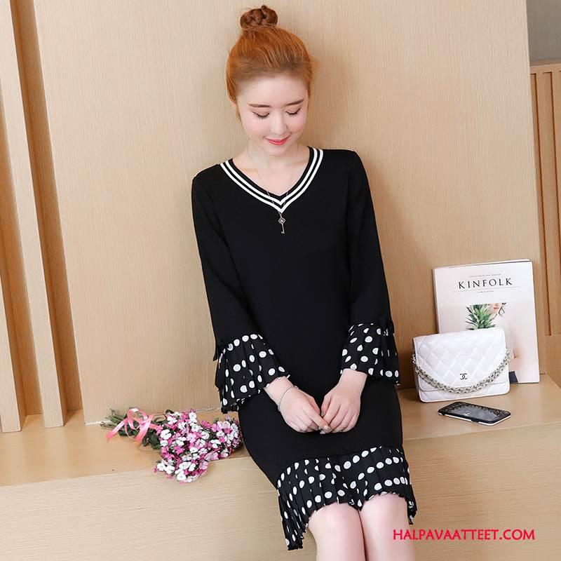 Naisten Plus Size Vaatteet Osta Yksinkertainen Kevät Tuore Pullover Muoti Musta