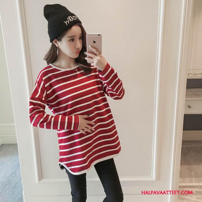 Naisten Plus Size Vaatteet Tarjous Pitkät Hihat Naisille Tyylikäs Mukavat Nuoret Puhdas Sininen Punainen