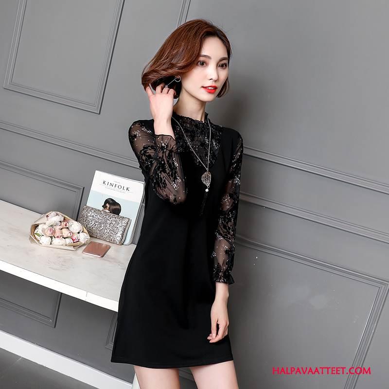 Naisten Plus Size Vaatteet Verkossa Tiukka Casual Löysät Kevät Pullover Puhdas Musta