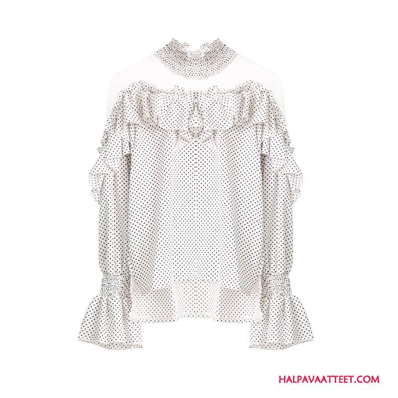 Naisten Pusero Osta Holkki Kevät Liitos Löysät Pullover Valkoinen