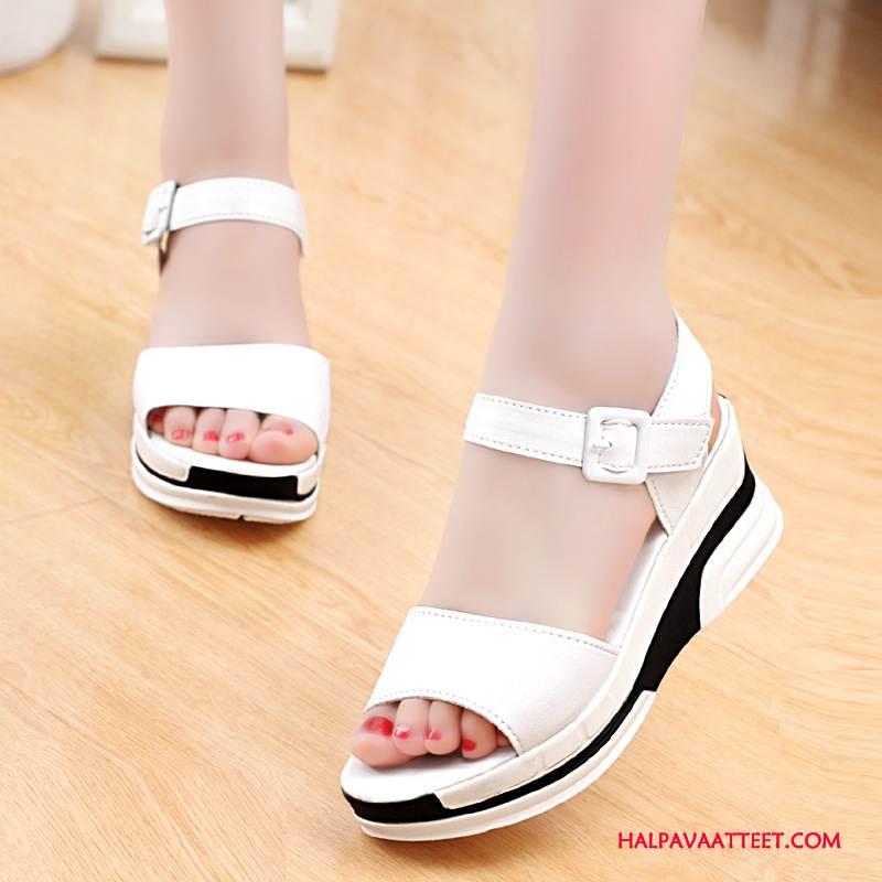 Naisten Sandaalit Halpa Kengät Tasainen Vedenpitävä Alusta Naisille Suuntaus Valkoinen