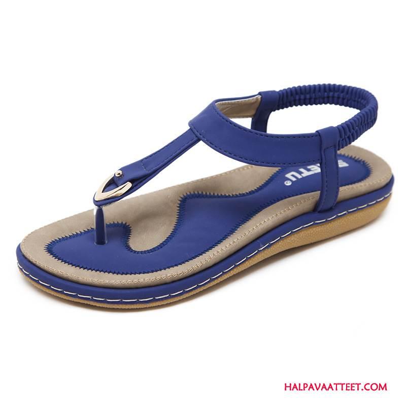 Naisten Sandaalit Halpa Mukavat Kansakunta Suuri Koko Kauneus Kengät Sininen