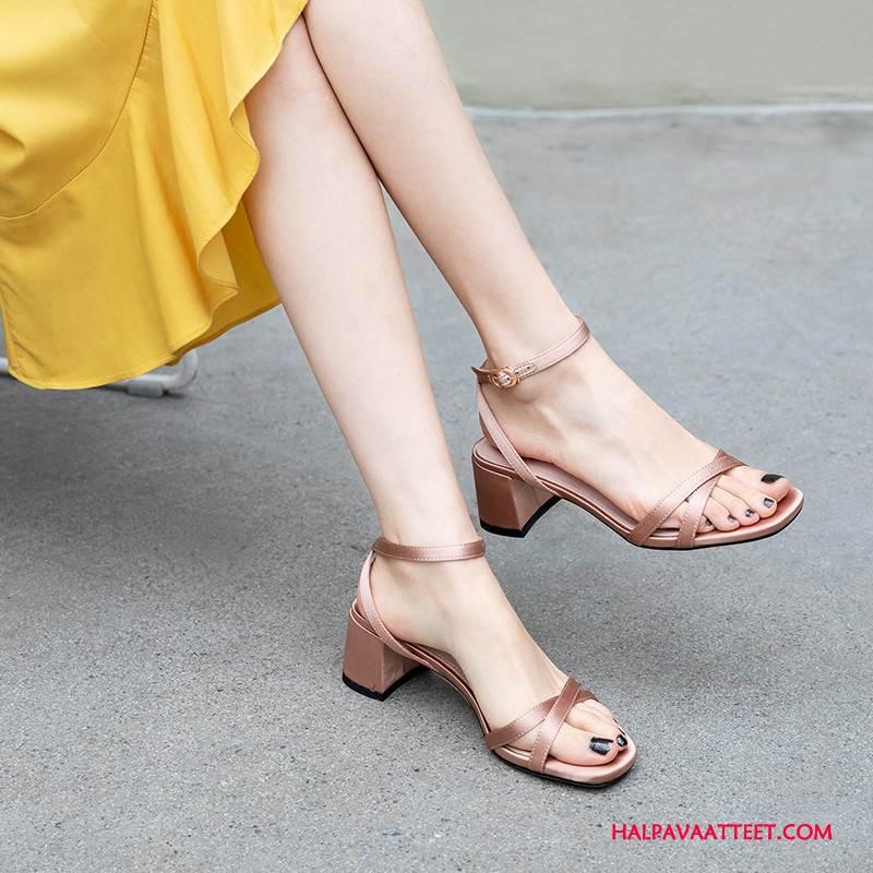Naisten Sandaalit Myynti Kaikki Ottelut Paksu Avoin Kesä Rooma Violetti