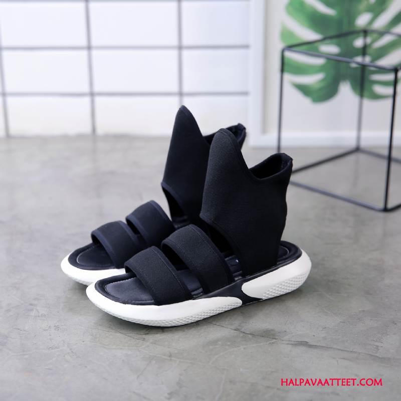 Naisten Sandaalit Myynti Kengät Ultra Naisille Paksu Pohja Tasainen Musta