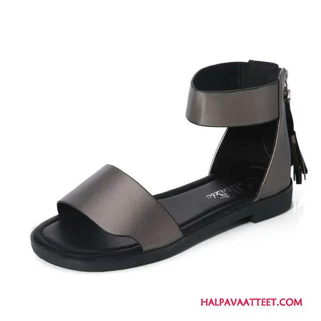 Naisten Sandaalit Myynti Muoti Pompon Rooma Liukumaton Kevät Puhdas