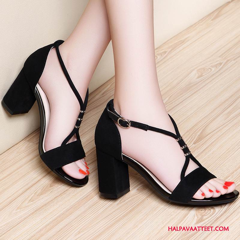 Naisten Sandaalit Osta Naisille Vedenpitävä Alusta Kengät Paksu Avoin Puhdas Musta Vaalean Kultainen