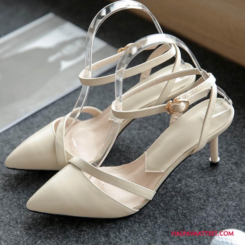 Naisten Sandaalit Osta Ohut Terävä Kohta Naisille Kesä Kengät Pinkki Kermanvärisiä