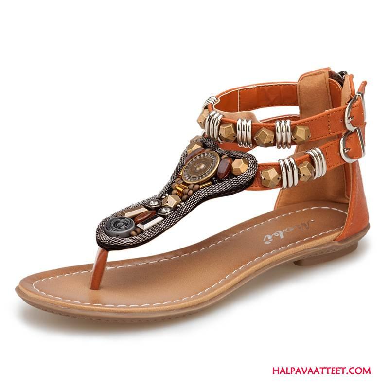Naisten Sandaalit Verkossa Kesä Rooma Naisille Zip Ruskea