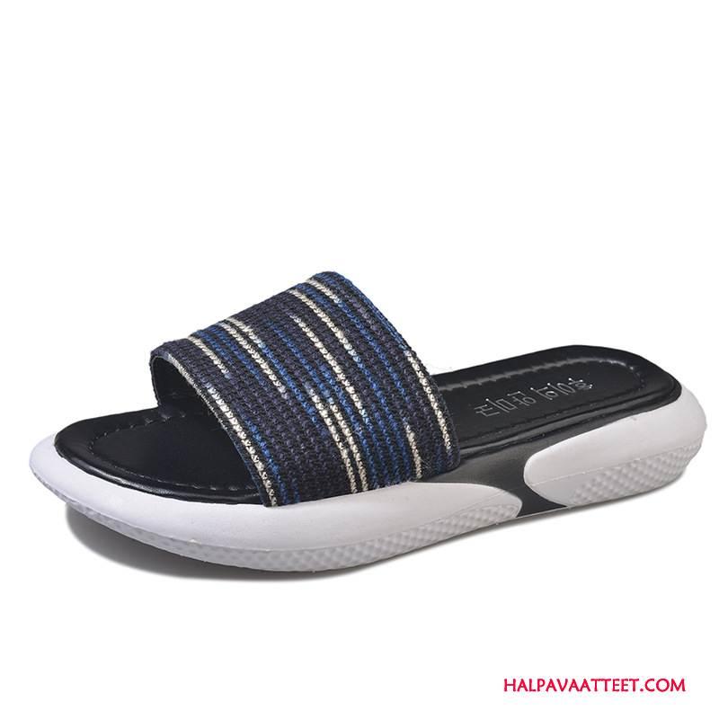 Naisten Tohvelit Halvat Päällysvaatteet Tasainen Muoti Kengät Naisille Sininen Punainen