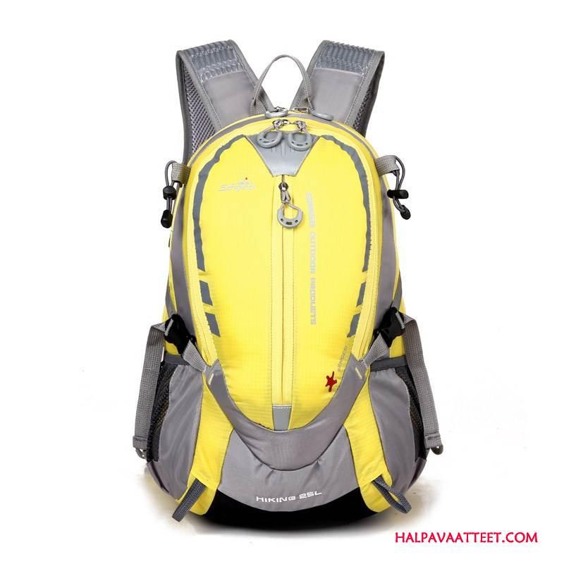Naisten Vaellusreppu Osta Laukku Läpäisemätön Miehille Ulkoilu Matkustaminen Keltainen