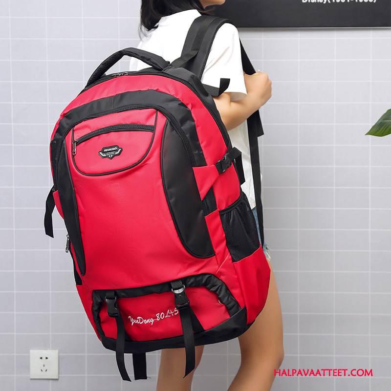 Naisten Vaellusreppu Osta Naisille Suuri Kapasiteetti Laukku Läpäisemätön Koululaukku Punainen