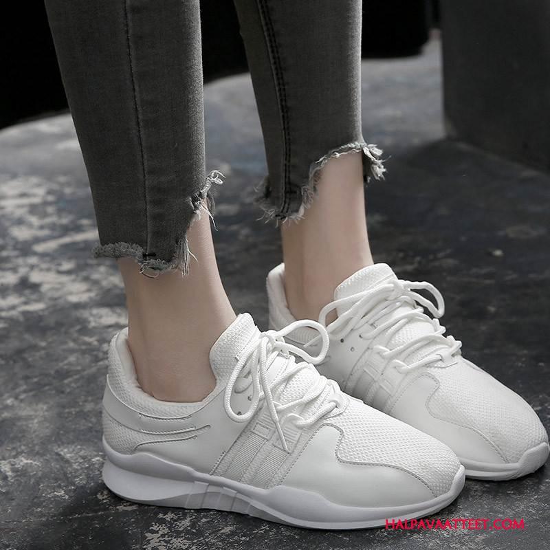 Naisten Vapaa-ajan Kengät Halvat Kesä Tasainen Rento Kevät Pitsi Valkoinen