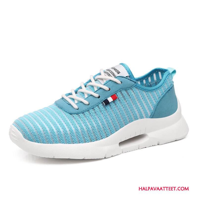 Naisten Vapaa-ajan Kengät Kauppa Hengittävä Aito Nahka Tasainen Kesä Naisille Valkoinen Vaalean Sininen