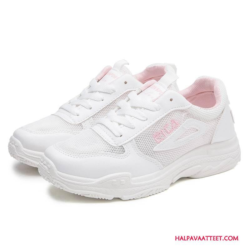 Naisten Vapaa-ajan Kengät Verkossa Verkko Ultra Urheilu Hengittävä Kesä Pinkki Valkoinen